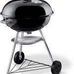 Weber Barbecue compatto a carbone 57 cm Nero 🥓 Barbecue a Carbonella🍗 Weber Compact Kettle 1221004