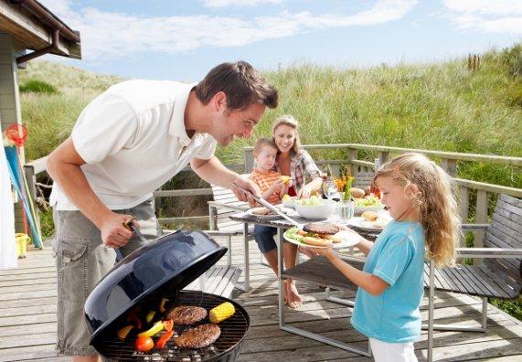 famiglia terrazza barbecue 🥓 Barbecue a Carbonella🍗 Barbecue a Carbonella
