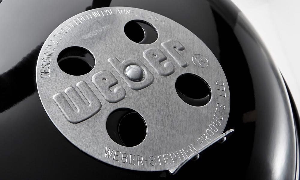 regulatore daria e fumo bbq 🥓 Barbecue a Carbonella🍗 Weber Compact Kettle 1221004